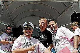 DJ Attila, Michael Bohrmann und DJ Lollo am Startpunkt der Mallorca Polonaise.