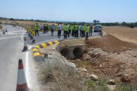 Offizielle Besichtigung der fast fertigen Landstraße Son Servera-Cala Millor.