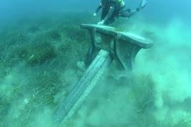Ankernde Yachten beschädigen Seegraswiesen.