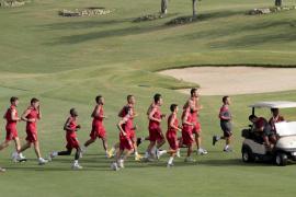 Real Mallorca trainiert auf dem Golfplatz Son Quint.