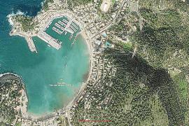 Port de Sóller ist seit 1956 deutlich gewachsen. Am auffälligsten aber ist der Hafenausbau, der beim Vergleich des Farbfotos von