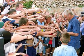 """Im August 2002 ist es besonders voll gewesen bei """"Ruuudis"""" Besuch in der Fußballschule. Völler war gerade als Teamchef mit Deuts"""