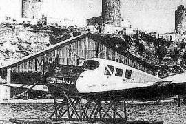 """1921 gründeten mallorquinische Unternehmer die Gesellschaft""""Aeromáritima Mallorquina"""" mit Hangar unter den Mühlen von Es Jonquet"""