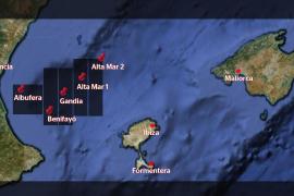 In diesen fünf Gebieten im Golf von Valencia will die Firma Cairn Energy PLC nach Erdöl und Erdgas suchen.