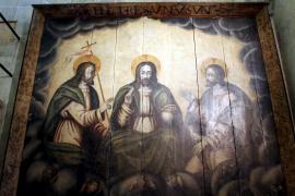 Das restaurierte Dreifaltigkeits-Gemälde.