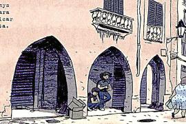 Palmas Altstadt in Comic-Bildern.