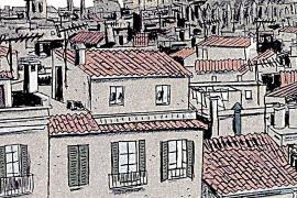 Palmas Altstadt aus der Sicht des Zeichners Bartomeu Seguí.