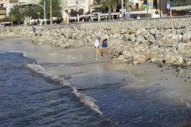Sóller – Neu aufgeschütteter Strand schrumpft