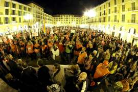 Abschlusskundgebung auf der Plaça Major in Palma.