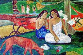 Paul Gauguins polynesische Schönheiten mit Stillleben Paul Gauguins polynesische Schönheiten, gemalt von Elmyr de Hory.