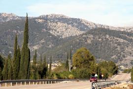 Landstraße nach Alaró am Freitagvormittag.