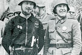 """Der Conde Rossi (l.), der """"Rote Graf"""", trat nach außen als Militärberater auf und führte die Italiener auf Mallorca an."""