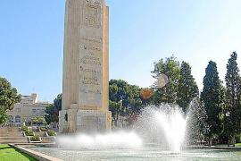 Die Gedenksäule im Sa-Faixina-Park vor ihrer Umgestaltung.
