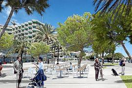 Fotomontage: So könnte der Passeig Marítim beim Tito's in Zukunft aussehen.