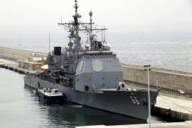 "Der US-Raketenwerfer ""Hue City"" in Palma."