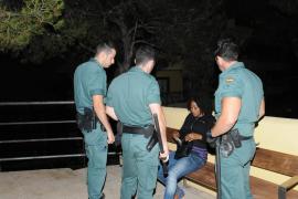Polizeiaktion in Magaluf auf Mallorca.