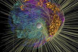 Computersimulation einer Supernova.