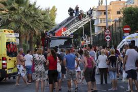 Brand in Urlauberhotel an Playa de Palma