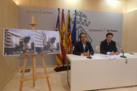 Präsentation des Umbauprojekts Hotel San Francisco durch Tourismusdezernent Älvaro Gijón (l. im Bild).