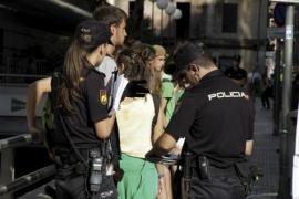 Konfrontation zwischen Schülern und Polizei
