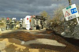 Unfall mit Diesellaster