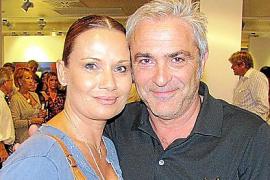 Glückliches Paar: Jenny Jürgens und David Carreras im Oktober bei einer Vernissage in der Galerie Mensing in Palma.
