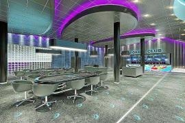 Mitten im Zentrum: Virtueller Blick auf den Pokersaal.