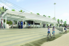 Die Foto-Montage zeigt, wie sich die einzelnen Strandkioske möglicherweise in Zukunft präsentieren werden.