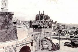 Die Stadtansicht zeigt den Paseo Sagrera im Jahre 1916.