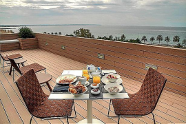 Die Dachterrasse des Hotels Calatrava, fünf Sterne, zwölf Zimmer, seit Mai 2013.