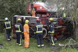 Verkehrsunfall mit Tanklastwagen  bei Costitx.