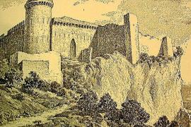 Ein Stich aus dem 19. Jahrhundert zeigt die Ruine der Burg von Santueri. Hier war im 15. Jahrhundert der Prinz von Viana inhafti
