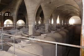 Tanks im ehemaligen Kellereigebäude Sindicat in Felanitx.