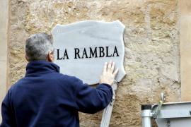"Derzeit heißt die Rambla in Palma de Mallorca nur noch ""Rambla""."