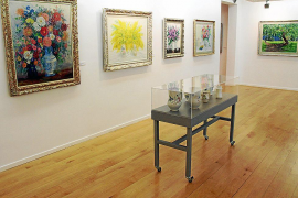 Auf 600 Quadratmetern sind in der Stiftung Coll Bardolet im Palacio Can Frances 45 Arbeiten des Künstlers ausgestellt, dazu 25 W