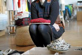 Irene Peukes in ihrem Atelier in Sineu.