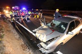 Das Opfer wurde durch den Aufprall in das Fahrzeug geschleudert.