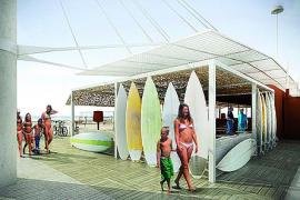 Die Fotomontage zeigt, wie der Strandkiosk bald aussehen könnte.