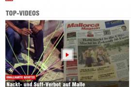 """Video auf Bild.de: """"Nackt und Suff-Verbot auf Malle""""."""