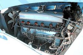 Der Delahaye-Motor zählt sechs Zylinder und 56 Pferdestärken.