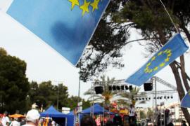 Europa-Fähnchen in Palmanova.