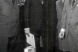 Spaniens Prinz Juan Carlos informierte sich 1968 über den Zentralbau des Industriegebietes.