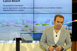 Der Vorstandsvorsitzende des mallorquinischen Konzerns Meliá Hotels International bei der Präsentation der jüngsten Fortschritte