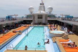 Einige verbrachten die Zeit in Palma am 25-Meter-Pool.