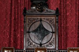 Auch im Plenarsaal des Rathauses von Palma ist vorerst noch die Büste von König Juan Carlos zu sehen.