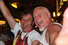 Grenzenlose Freude bei den deutschen Fans an der Playa de Palma.