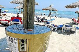 Strandschließfach auf Mallorca.