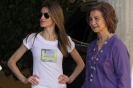 Zwei Königinnen unter sich: Sofía ist bereits auf Mallorca.
