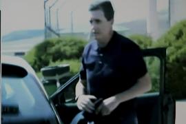 Jaume Matas bei seinem Haftantritt.