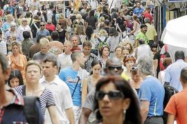 Die Calle Oms in Palmas Innenstadt mitten im August.